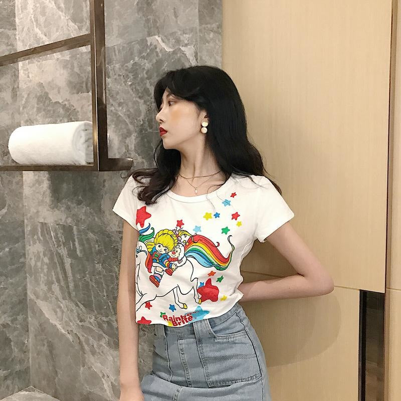 Rainbow Brite Crop Top - crop top