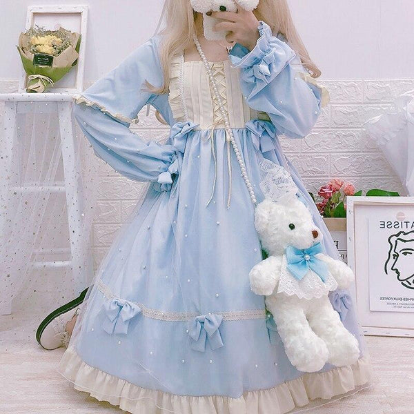 Royal Princess Lolita Dress - Blue - candy, dress, jsk, jsk fashion