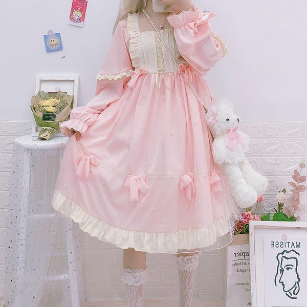 Royal Princess Lolita Dress - Pink - candy, dress, jsk, jsk fashion