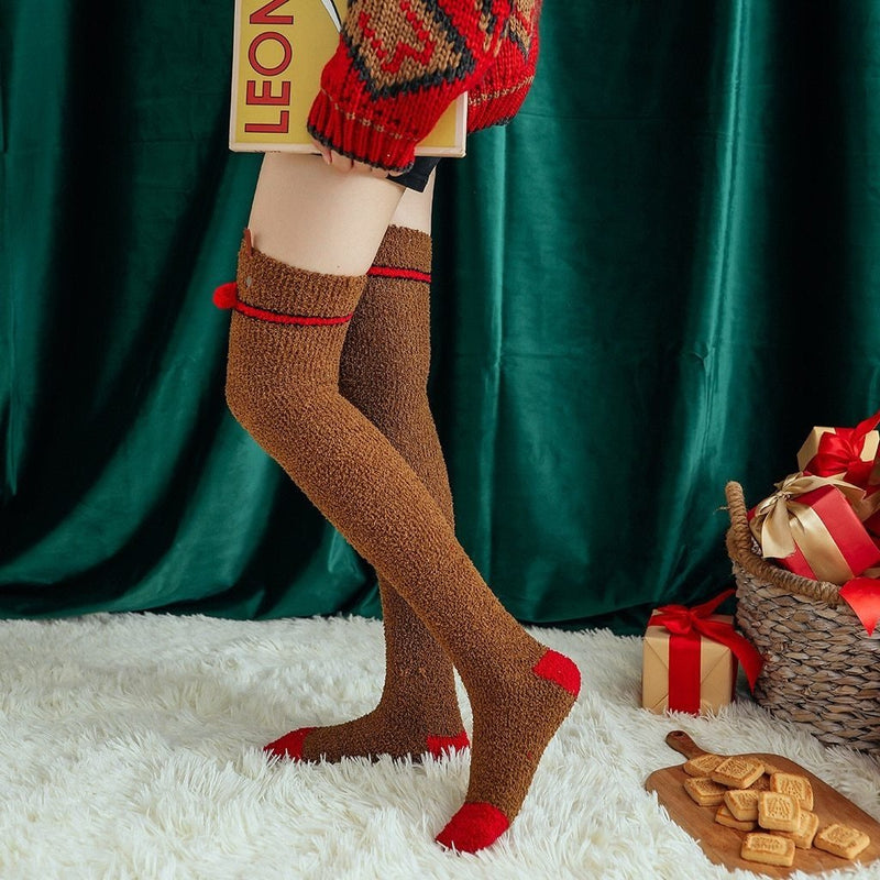 Rudolph Thigh Highs - socks