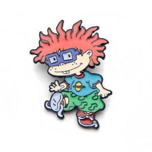 Cute Rugrats Metal Enamel Pin Lapel Brooch Set Chucky Angelica Reptar Tommy Nickelodeon