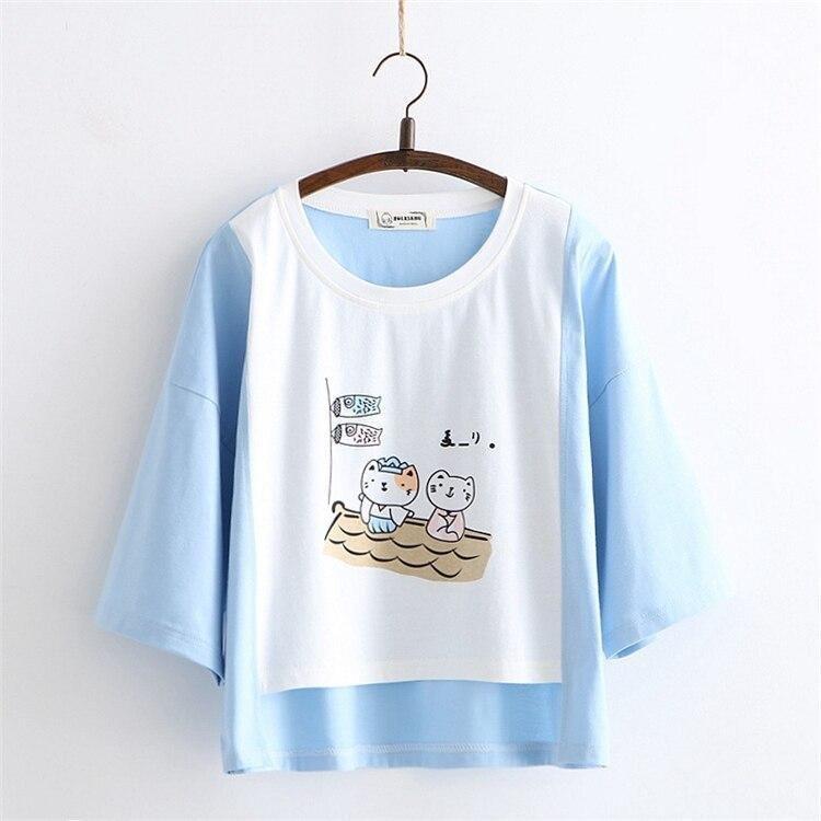 Sailing Kitten Tee - t-shirt