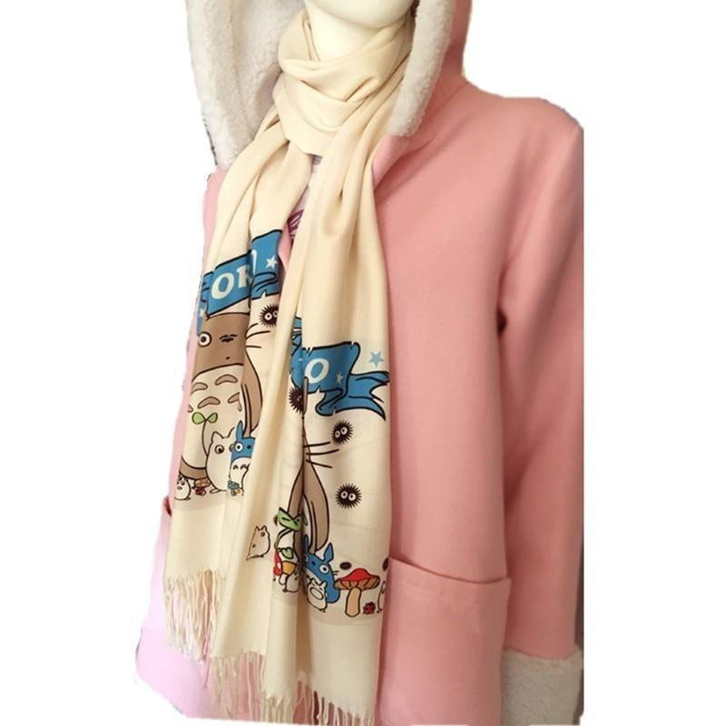 My Neighbor Totoro Scarf Kawaii Scarves  Anime Otaku