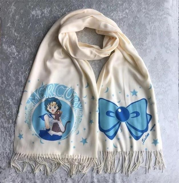 Sailor Moon Magical Girl Scarf Kawaii Scarves Mahou Shoujo Anime Otaku