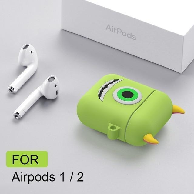 Monsters Inc Mike Sully Apple Airpod Case 3D Air Pods Kawaii