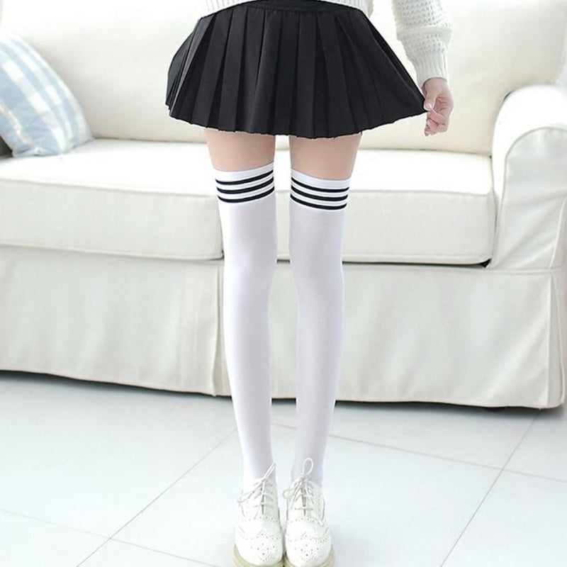 School Girl Thigh High Lolita Stockings Socks Tights Goth Gothic Traditional Sexy