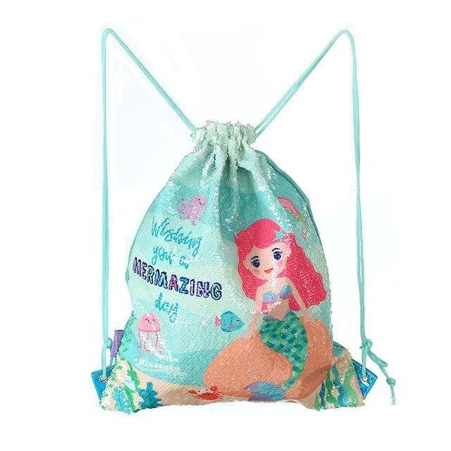 Sequin Mermaid Bags - Green Mermaid - storage