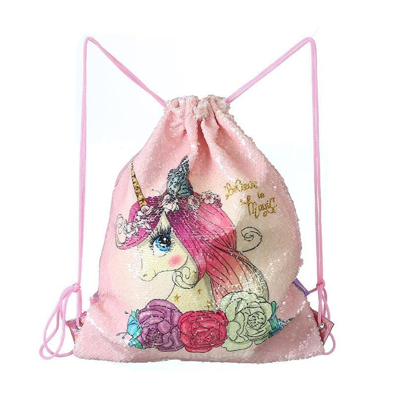 Sequin Mermaid Bags - Pink Unicorn - storage