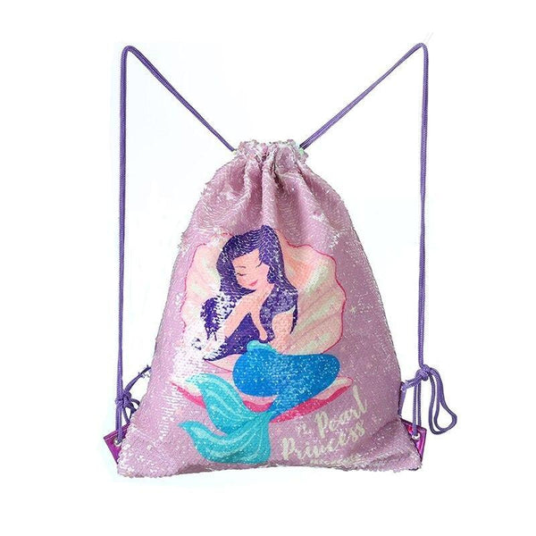 Sequin Mermaid Bags - Purple Mermaid - storage
