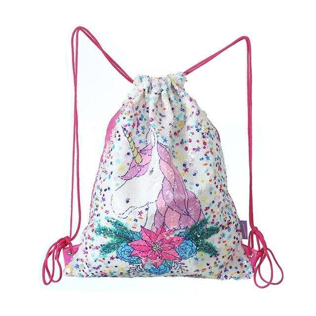 Sequin Mermaid Bags - White Unicorn - storage