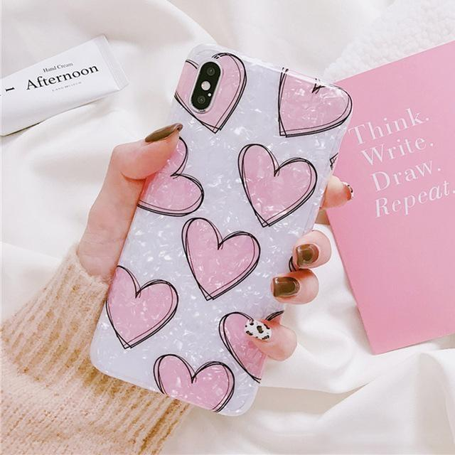 Shimmering Heart iPhone Case - For iPhone XR