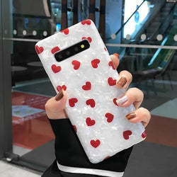 Shimmering Heart Samsung Cases - For Samsung S8 Plus / Red - phone case