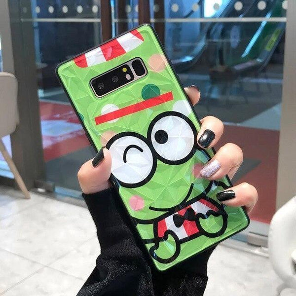 Shimmering Keroppi Samsung Cases - For Samsung S10 / One Frog - phone case