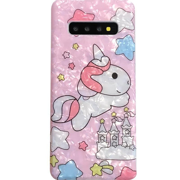 Shimmering Unicorn Samsung Cases - phone case