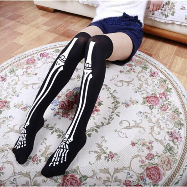Skeleton Stockings - bone stockings, bones, creepy, gore, halloween