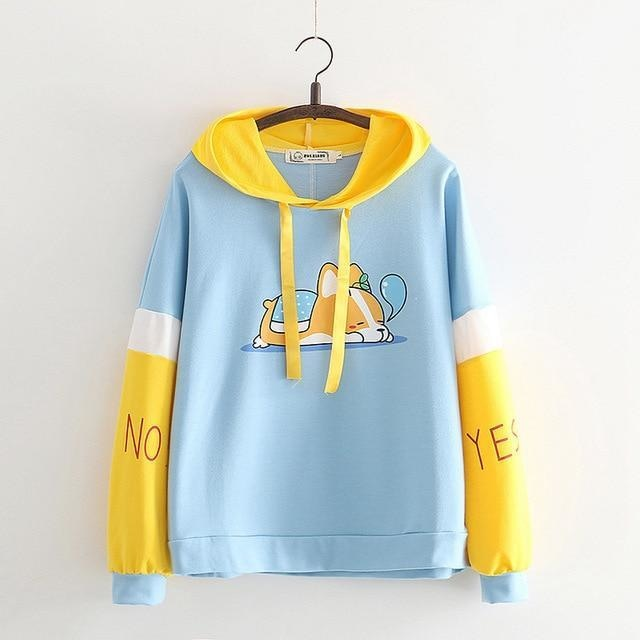 Sleepy Puppy Hoodie - Blue / M - sweater