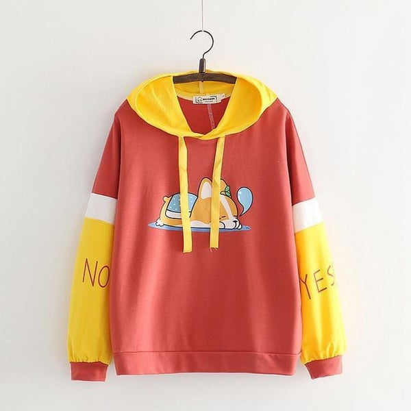 Sleepy Puppy Hoodie - Red / M - sweater