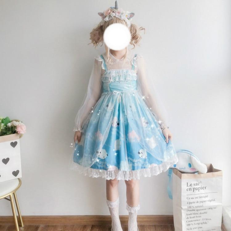 Sleepy Sheep Lolita Dress - jsk, jsk dress, fashion, lolita jsks
