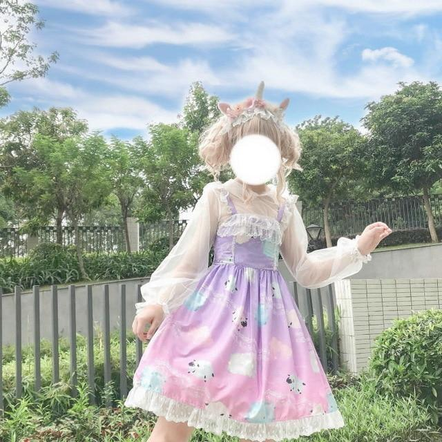 Sleepy Sheep Lolita Dress - Purple - jsk, jsk dress, fashion, lolita jsks