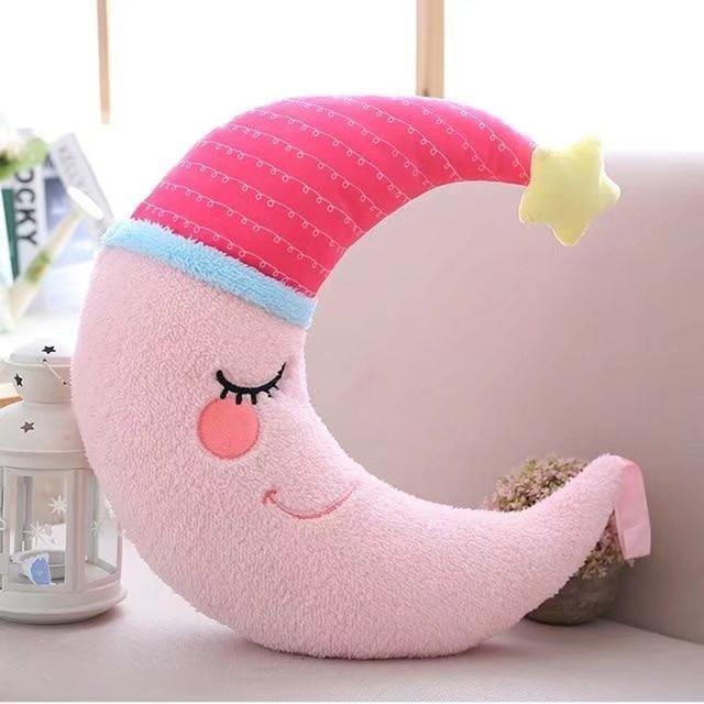Slumber Moon Plushie - Pink Moon - stuffed animal