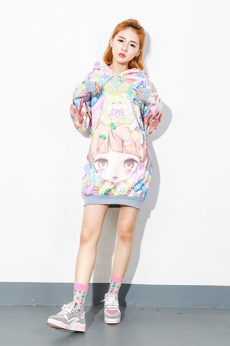 Snacky Littlespace Sweater Dress - abdl, adult baby, ageplay, anime, fairy kei