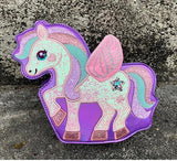 Sparkle Pegasus Handbag - Purple - bag