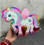 Sparkle Pegasus Handbag - Rainbow - bag