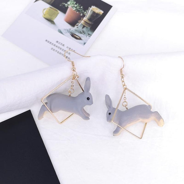 Spring Bunny Earrings - earrings