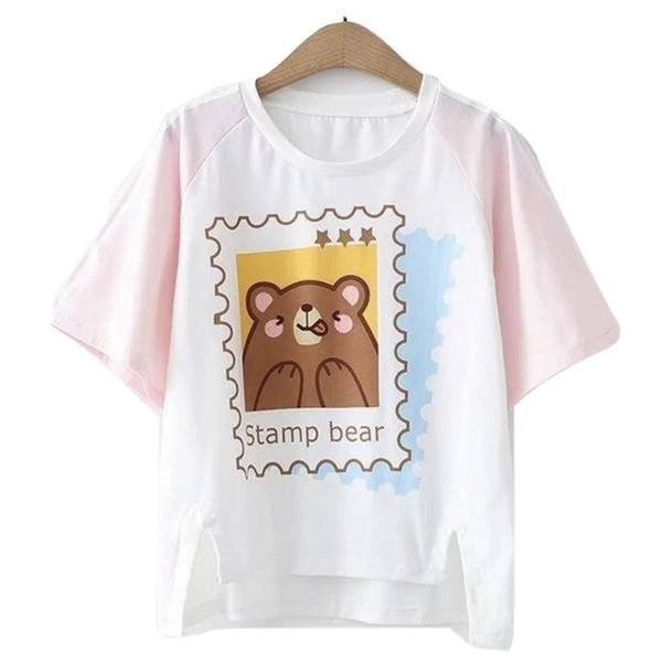Stamp Bear Tee - top
