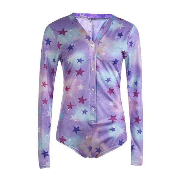 Starry Galaxy Sleeper - XL - bodysuit, bodysuits, creepy, creepy cute, fairy kei