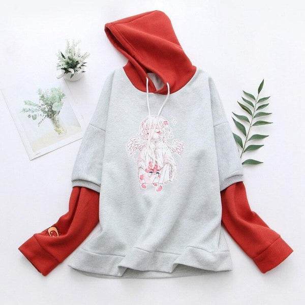 Strawberry Angel Hoodie - sweater