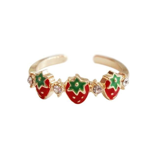 Strawberry Babe Ring - ring