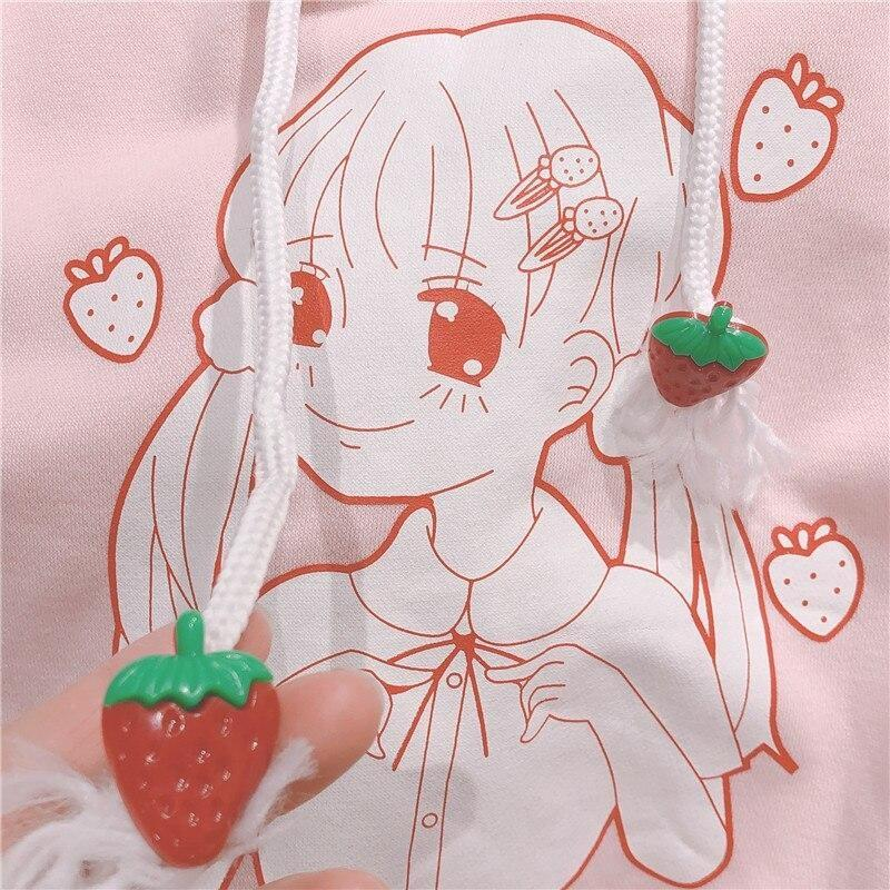 Strawberry Girl Hoodie - sweatshirt