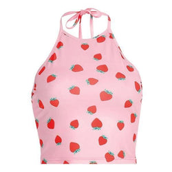 Strawberry Halter Top - top