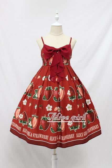 Strawberry Maiden Dress - Burgundy / L - Dress