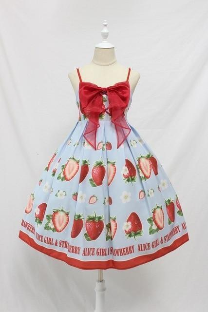 Strawberry Maiden Dress - Sky Blue / L - Dress