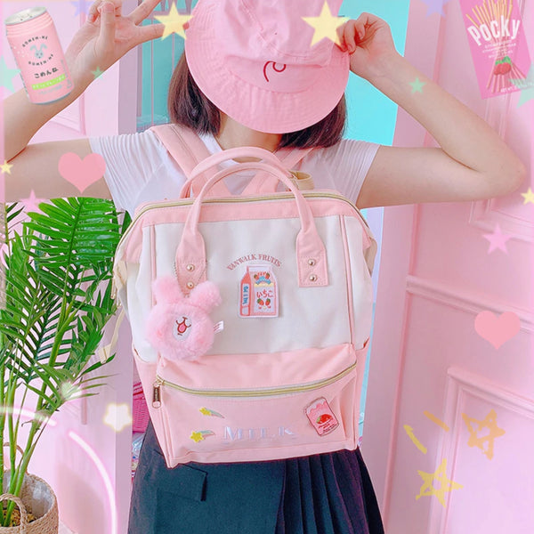 Strawberry Milk Backpack (5 Colors)