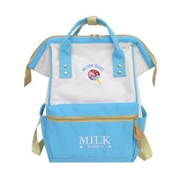 Blue Strawberry Milk Backpack Book Bag School Knapsack Rucksack Harajuku Japan Fashion
