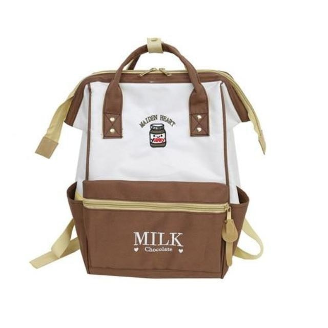 Chocolate Milk Backpack Book Bag School Knapsack Rucksack Harajuku Japan Fashion