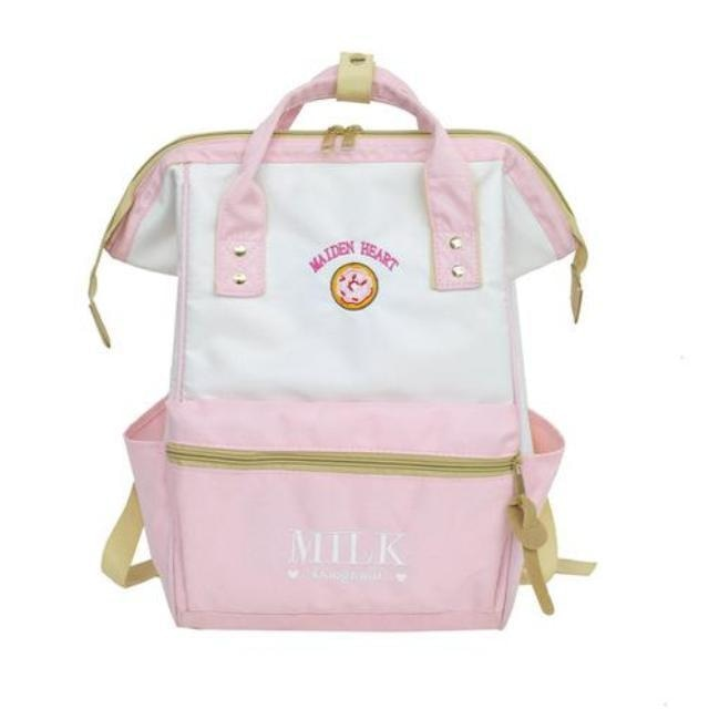 Pink Strawberry Milk Backpack Book Bag School Knapsack Rucksack Donut Sweets Harajuku Japan Fashion