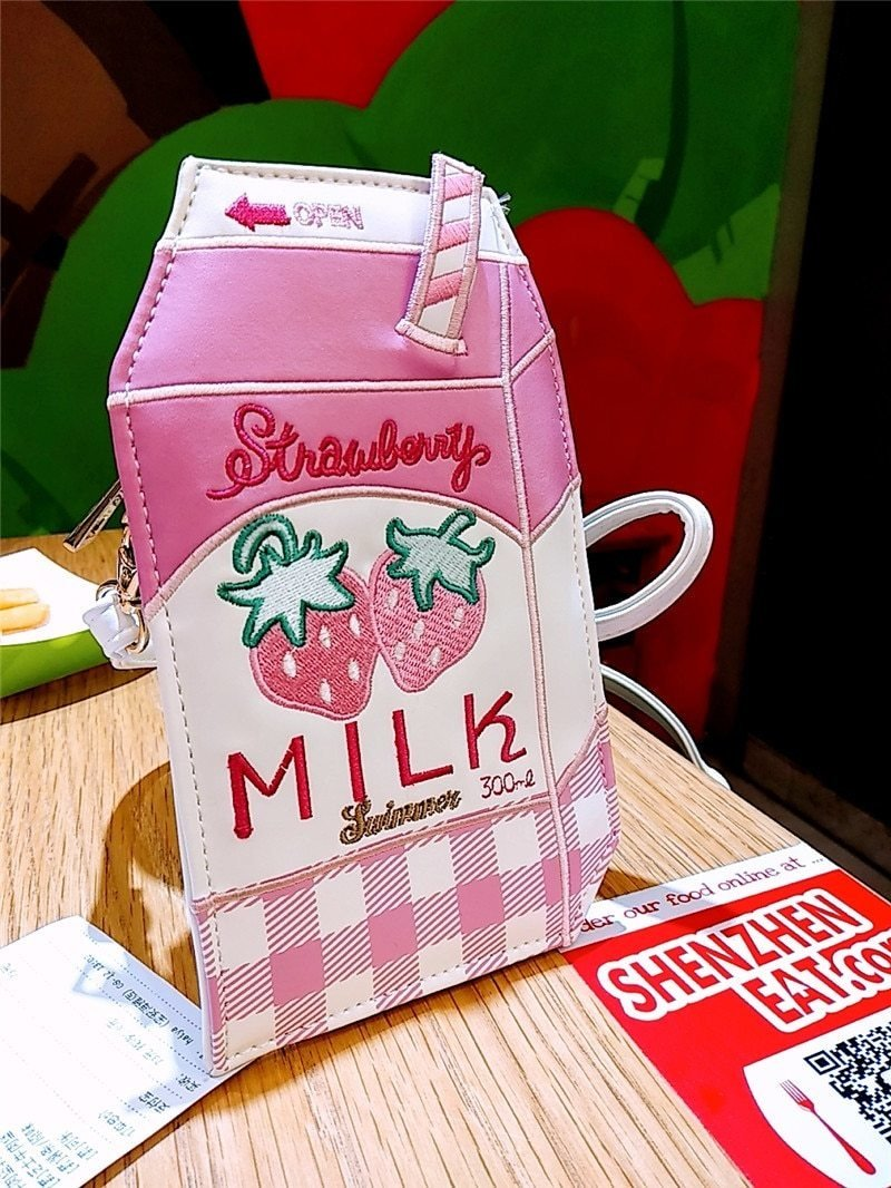 Strawberry Milk Bag - purse