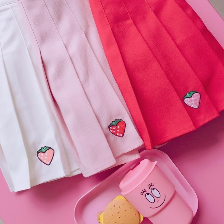 Strawberry Tennis Skirt - Skirt