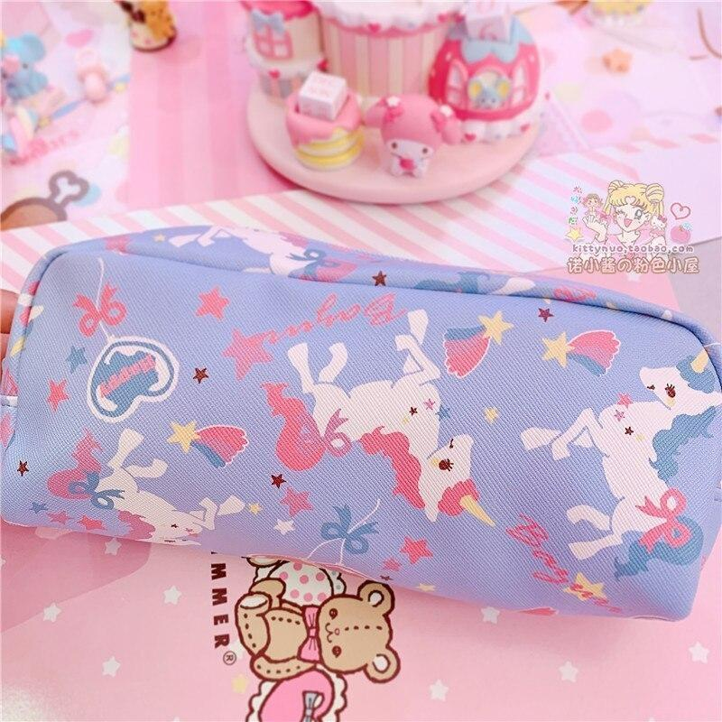 Strawbunny Storage Bag - Blue Unicorn Bag - cosmetic bag