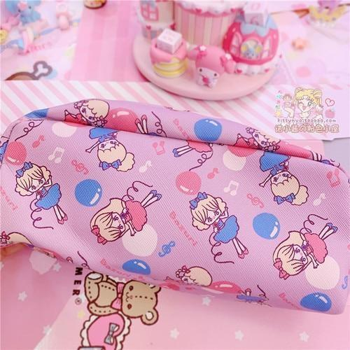 Strawbunny Storage Bag - Purple Dancing Girl - cosmetic bag