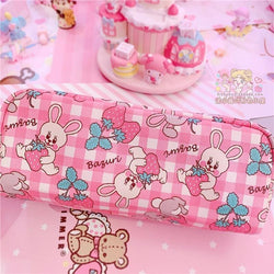 Strawbunny Storage Bag - Strawberry Bunny Bag - cosmetic bag