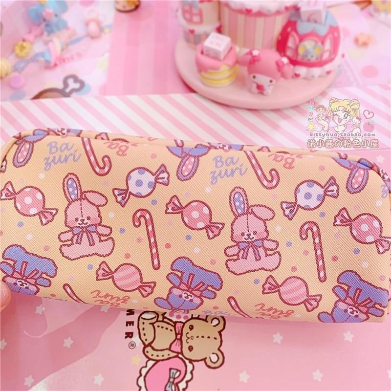 Strawbunny Storage Bag - Yellow Candy Bag - cosmetic bag