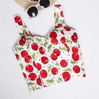 bec9b4659802 ... Summer Camisole Crop Top Tank Shirt Belly Plaid Gingham Floral Prints  ...