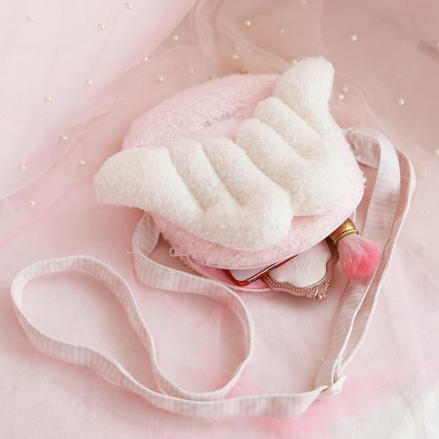 Sweet Angel Plush Backpack - Crossbody Style Bag - backpack