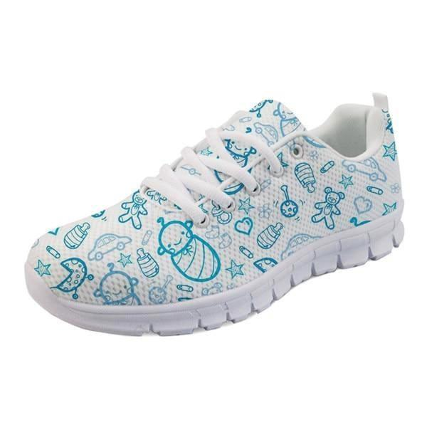 Sweet Baby Runners - Blue Baby Print / 5 - shoes