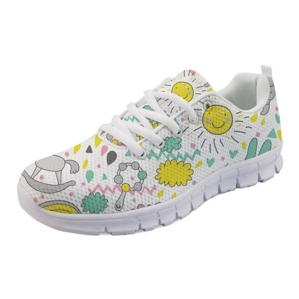 Sweet Baby Runners - White Toys & Sunshine / 5 - shoes